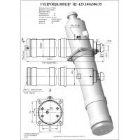 Гидроцилиндр опоры ЦГ-125.100х580.55 (КС-45717.31.200)